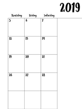 FREE Teacher Planner Calendar 2018-2019