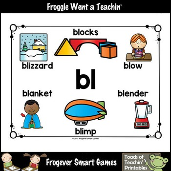 Literacy Teacher Resource--Look, Listen, Learn L Blends Posters