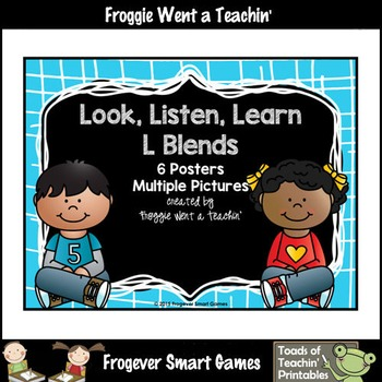 Literacy Teacher Resource--Look, Listen, Learn L Blends Posters