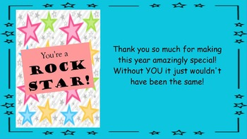 FREE Teacher Thank You Card for End of Year