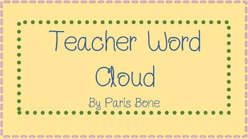 *FREE* Teacher-Themed Apple Word Cloud Graphic