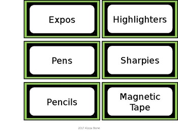 FREE Teacher Toolbox Labels - Green