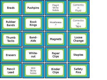 FREE Teacher Toolbox Labels - Lime & Aqua