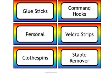 Teacher Toolbox Labels - Noah's Rainbow