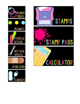 FREE Teacher Toolbox Labels for 18 and 22 Compartments