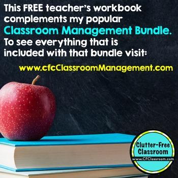 FREE Teacher Workbook For Classroom Management Planning: Grades K-6