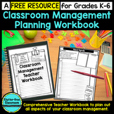 FREE Teacher Workbook For Classroom Management Planning: G