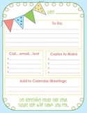 FREE Teacher's Daily To Do Sheet (Color and Black and White printables!)