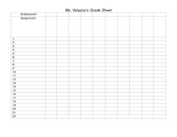 free teacher 39 s blank grading sheet fully editable by mrsgalvan tpt. Black Bedroom Furniture Sets. Home Design Ideas