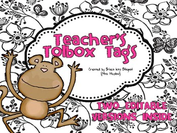 FREE Teacher's Toolbox Labels EDITABLE