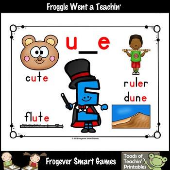 "Teaching Literacy Resource--Look, Listen, Learn ""Magic E"" u_e Words Posters"