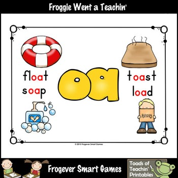 Vowel Team Posters--Look, Listen, Learn Long O Vowel Team /oa/