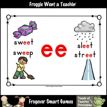 Vowel Team Posters--FREE Look,Listen,Learn 4 More Long E Vowel Team /ee/