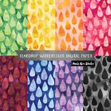 Tear Drop Watercolor Backgrounds