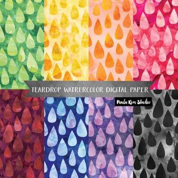 FREE Tear Drop Watercolor Backgrounds