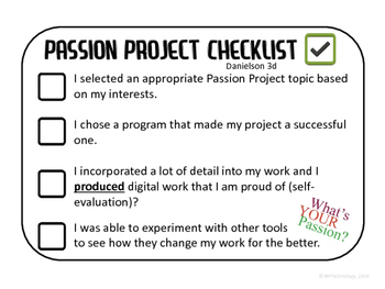 FREE Technology Passion Projects Checklist
