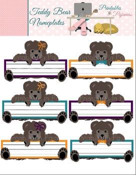 FREE Teddy Bear Nameplates
