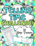 {FREE} Telling Time Challenge - Create a Schedule!