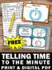 FREE Telling Time to the Minute Task Cards, Special Education Math Activities