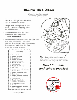 FREE...Telling Time Discs...FREE  to the Hour - to Five Minutes  Core 1-2 MATH