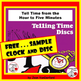 FREE...Telling Time Discs...FREE  to the Hour - to Five Minutes |Core 1-2 MATH