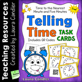 FREE Telling Time Task Cards with QR Codes