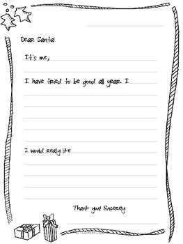 {FREE Template} A letter to Santa