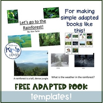 FREE Template for Creating Adapted Books for Kids with Disabilities