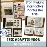 FREE Templates for Creating Adapted Books for Special Education