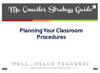 FREE Template for Planning Classroom Routines & Procedures