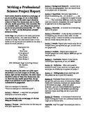 FREE Template for writing a science report - Common Core !