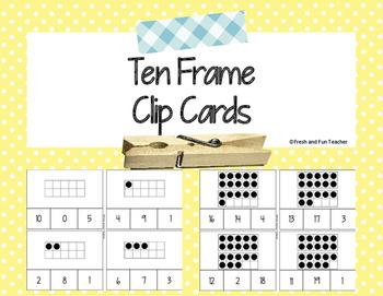 Ten Frame Clip Cards 0-20