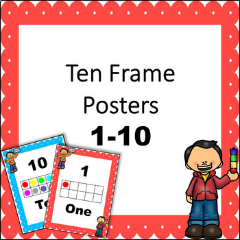 FREE Ten Frame Posters 1-10