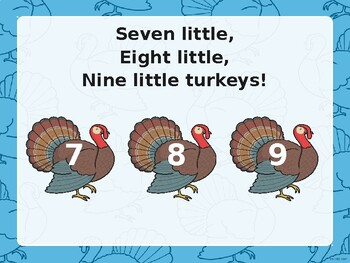 FREE Ten Little Turkeys Sing-Along PowerPoint