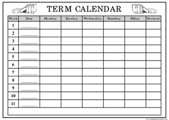 FREE Term Activity Planner