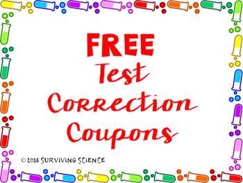 FREE Test Correction Coupons