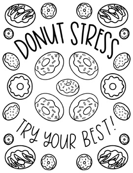 Free Testing Encouragement Coloring Pages By Hipster Art Teacher