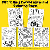 FREE Testing Encouragement Coloring Pages