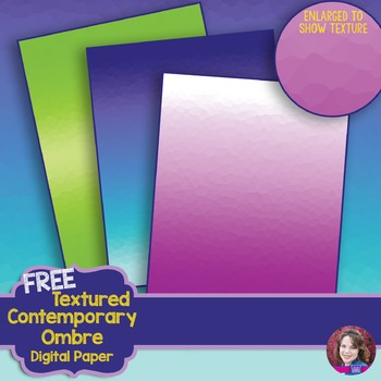 FREE Textured Contemporary Ombre  Digital Paper