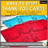 FREE Thank You Cards For The Holidays