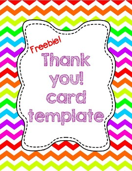 free thank you card template tpt