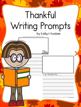FREE Thankful Writing Prompts