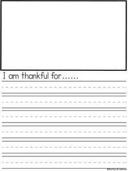 FREE Thankful Writing Prompts