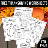 Thanksgiving Activities For Preschool Fall Math Worksheets Freebees Printables