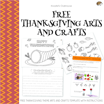 FREE Thanksgiving Arts and Crafts