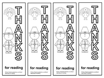 FREE Thanksgiving Bookmarks (To Color)