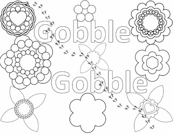 FREE Thanksgiving Color Page Gobble Gobble Design!