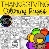 FREE Thanksgiving Coloring Pages {Made by Creative Clips Clipart}