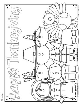 FREE Thanksgiving Coloring Sheets