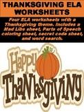 FREE Thanksgiving ELA Worksheets